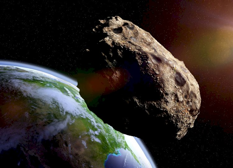 A huge asteroid flying by earth on the 29th of April